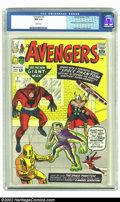 Silver Age (1956-1969):Superhero, The Avengers #2 (Marvel, 1963) CGC NM 9.4 White pages. Only twocopies have been graded higher by CGC than this beauty -- an...