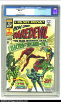Silver Age (1956-1969):Superhero, Daredevil Annual 1 (Marvel, 1967) CGC NM 9.4 White pages. Gene Colan, responsible for the cover and interior art on this iss...
