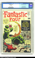 Silver Age (1956-1969):Superhero, Fantastic Four #1 (Marvel, 1961) CGC VF 8.0 Off-white to white pages. Jack Kirby, already a legend thanks primarily to his w...