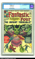 """Silver Age (1956-1969):Superhero, Fantastic Four #24 (Marvel, 1964) CGC VF/NM 9.0 Off-white to white pages. From the """"monster"""" covers of the late 50s to the e..."""