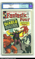 """Silver Age (1956-1969):Superhero, Fantastic Four #30 (Marvel, 1964) CGC NM 9.4 Off-white pages. Here is one of the world's greatest copies of the """"World's Gre..."""