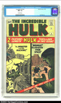 Silver Age (1956-1969):Superhero, The Incredible Hulk #4 (Marvel, 1962) CGC NM- 9.2 Off-white pages.Only two copies of this book have been graded higher by C...