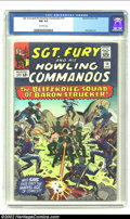 Silver Age (1956-1969):War, Sgt. Fury #14 (Marvel) CGC NM 9.4 Off-white pages. Overstreet 2002 NM 9.4 value = $80....