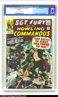 Sgt. Fury #15 (Marvel) CGC NM 9.4 Off-white to white pages. Overstreet 2002 NM 9.4 value = $80