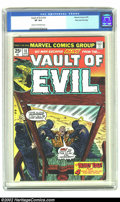 Bronze Age (1970-1979):Horror, Vault of Evil #18 Stan Lee File Copy (Marvel, 1975) CGC VF 8.0Cream to off-white pages. Is he innocent? Does it matter? He'...