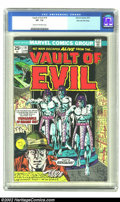 Bronze Age (1970-1979):Horror, Vault of Evil #19 Stan Lee File Copy (Marvel, 1975) CGC VF- 7.5Cream to off-white pages. Stan Lee's very own copy inspired ...
