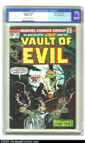 Bronze Age (1970-1979):Horror, Vault of Evil #20 Stan Lee File Copy (Marvel, 1975) CGC FN/VF 7.0Cream to off-white pages. Stan Lee's own copy has it all; ...