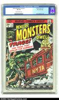 Bronze Age (1970-1979):Horror, Where Monsters Dwell #33 Stan Lee File Copy (Marvel, 1975) CGC VG4.0 Cream to off-white pages. Classic Kane and Milgrom cov...