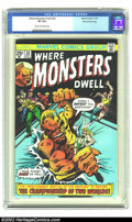 Bronze Age (1970-1979):Horror, Where Monsters Dwell #38 Stan Lee File Copy (Marvel, 1975) CGC VF 8.0 Cream to off-white pages. This is a quite rare last is...