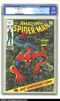 Bronze Age (1970-1979):Superhero, The Amazing Spider-Man #100 (Marvel, 1971) CGC NM+ 9.6 Off-whitepages. Of the hundreds of copies of this issue that have so...