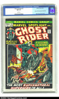 Bronze Age (1970-1979):Superhero, Marvel Spotlight #5 (Marvel, 1972) CGC NM 9.4 White pages. GhostRider's first appearance is one of the most important of th...