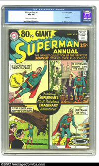 80 Page Giant #1 (DC, 1964) CGC NM 9.4 Cream to off-white pages . This wonderful Curt Swan cover surrounds some of the g...