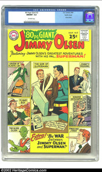 80 Page Giant #2 Pacific Coast pedigree (DC, 1964) CGC NM/MT 9.8 Off-white pages. This Jimmy Olsen feature is the highes...
