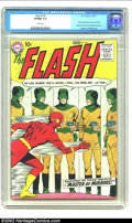 Silver Age (1956-1969):Superhero, The Flash #105 (DC, 1959) CGC VF/NM 9.0 Cream Pages. Here is thehigh demand first issue of the Silver Age Flash in his very...