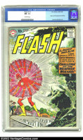 Silver Age (1956-1969):Superhero, The Flash #110 (DC, 1959) CGC NM- 9.2 Off-white pages. Firstappearances galore in this issue, including Kid Flash and the W...