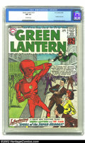 Silver Age (1956-1969):Superhero, Green Lantern #13 (DC, 1962) CGC NM 9.4. This is a book that hasunbelievable eye-appeal. It also has a knock-out Flash cros...