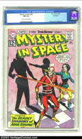 Silver Age (1956-1969):Science Fiction, Mystery in Space #80 Bethlehem Pedigree (DC) CGC NM 9.4 Cream tooff-white pages. A terrific pink-dominated cover -- as Adam...