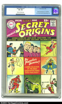 """Secret Origins #1 (DC, 1961) CGC VF+ 8.5 Cream to off-white pages. For those DC readers who had missed """"origin""""..."""