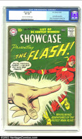 Showcase #8 (DC, 1957) CGC VF 8.0 Light tan to off-white pages. Carmine Infantino's earlier cover of issue #4 was integr...