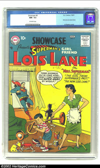 Showcase #9 (DC, 1957) CGC NM- 9.2 Off-white pages. This early issue of the title was the first of two Lois Lane tryout...