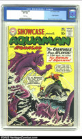 "Silver Age (1956-1969):Superhero, Showcase #30 (DC, 1961) CGC VF 8.0 White pages. Aquaman had been around in the DC Universe since 1941, but had undergone a ""..."