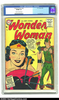 Wonder Woman #82 (DC, 1956) CGC VF/NM 9.0 Cream to off-white pages. Collectors have found it difficult finding high-grad...