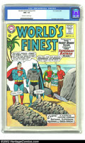 Silver Age (1956-1969):Superhero, World's Finest Comics #141 (DC) CGC NM+ 9.6 Off-white to white pages. This issue pits Jimmy and Robin against Superman and B...