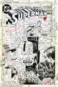 Original Comic Art:Complete Story, Curt Swan and Murphy Anderson - Original art for Superman #411, Complete 23-page Story with Cover (DC, 1985). In 1985, sci-f...