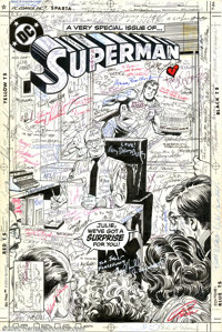 Curt Swan and Murphy Anderson - Original art for Superman #411, Complete 23-page Story with Cover (DC, 1985). In 1985, s...