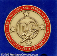 DC 50th Anniversary Bronze Medallion (DC, 1985). Here's one that all your friends don't have. How many people do you thi...