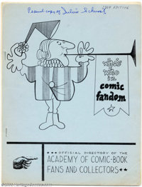 Fanzine Lot (1960s/1970s). No editor embraced the burgeoning comics fandom that blossomed in the 1960s more fully than J...