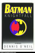 "Memorabilia:Comic-Related, Batman: Nightfall (Bantam 1994) Condition: NM. This classic novel by Dennis O'Neil has been personalized to Julie with, ""To ..."