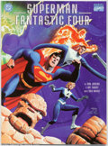 Memorabilia:Comic-Related, Superman/Fantastic Four (DC/Marvel, 1999).Condition: NM. The Man of Steel meets the FF. Fabulous wraparound cover by Dan Jur...