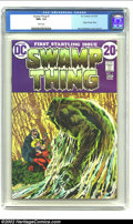 Bronze Age (1970-1979):Horror, Swamp Thing #1 (DC, 1972) CGC NM+ 9.6 White pages. Horror legendBernie Wrightson lends his considerable artistic abilities ...