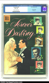 "Four Color #681 ""Forever Darling"" movie (Dell, 1956) CGC VF+ 8.5 Cream to off-white pages. At the peak of the..."