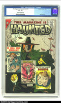 Silver Age (1956-1969):Horror, This Magazine Is Haunted v2 #13 (Charlton, 1957) CGC VF+ 8.5 Creamto off-white pages. This Ditko horror book is one of the ...