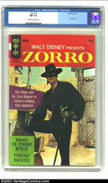 Silver Age (1956-1969):Adventure, Zorro #7 (Gold Key, 1967) CGC NM 9.4 Off-white to white pages. This gorgeous copy is the only copy of issue #7 that CGC has ...