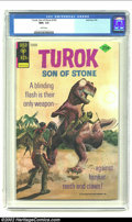 Bronze Age (1970-1979):Miscellaneous, Turok #103 (Gold Key, 1976) CGC NM+ 9.6 White pages. Turok andfriends battle against a T-Rex on this painted cover. This is...