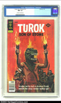 Bronze Age (1970-1979):Miscellaneous, Turok #113 (Gold Key, 1978) CGC NM+ 9.6 Off-white to white pages.This painted cover of an Indian warrior wearing a T-Rex ma...