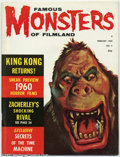 Magazines:Horror, Famous Monsters of Filmland #6 (Warren, 1960) Condition: FN+. A King Kong portrait howls as the Phantom of the Opera imp hid...