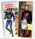 Memorabilia:Comic-Related, Captain Action - Second Issue Box, Purple Costume Variant (Ideal, 1967). To lead off a stunning selection of Captain Actio...