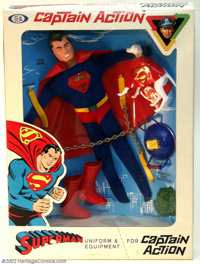 Captain Action Superman Uniform Set (Ideal, 1966). The Man of Steel was perhaps the best-known superhero on Captain Acti...