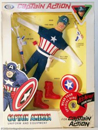 Captain Action Captain America Uniform Set (Ideal, 1966). Talk about the toy to end all toys! These outstanding figures...