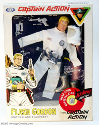 Captain Action Flash Gordon Uniform Set, Second Issue (Ideal, 1967). This is the 1967 re-issue of the superb Flash Gordo...