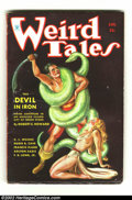 Pulps:Science Fiction, Weird Tales Pulp Group Lot of 5 (Popular Fiction, 1934) Averagecondition: GD+ . Classic Brundage is hard to find, but here ...(Total: 5 Comic Books Item)