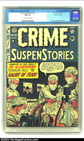 """Golden Age (1938-1955):Crime, Crime SuspenStories #10 Gaines File pedigree 2/12 (EC, 1952) CGC NM 9.4 Off-white to white pages. """"Yes, yes! Tuck the diamon..."""