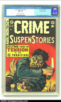 Golden Age (1938-1955):Crime, Crime SuspenStories #16 Gaines File pedigree 3/12 (EC, 1953) CGC NM+ 9.6 Cream to off-white pages. With this issue of the ti...