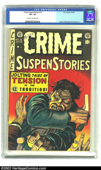 Crime SuspenStories #16 (EC, 1953) CGC VF+ 8.5 Cream to off-white pages. You can tell by the guy's dental hygiene that h...