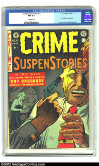 Crime SuspenStories #17 (EC, 1953) CGC NM 9.4 Off-white pages. That's right, it's Near Mint and it's not a Gaines file c...