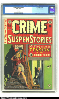 Crime SuspenStories #18 Gaines File pedigree 2/12 (EC, 1953) CGC NM+ 9.6 White pages. EC's ability to mix 'n match diffe...